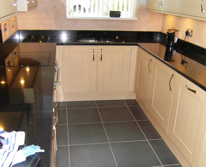 Kitchen Units and Floor Tiles